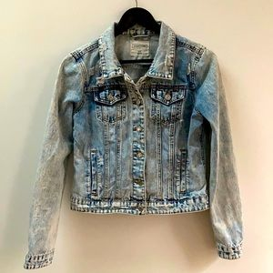 Eighty Two Denim Distressed Jean Jacket